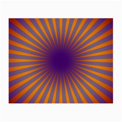 Retro Circle Lines Rays Orange Small Glasses Cloth (2 Side)