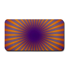Retro Circle Lines Rays Orange Medium Bar Mats
