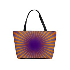 Retro Circle Lines Rays Orange Shoulder Handbags