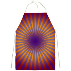 Retro Circle Lines Rays Orange Full Print Aprons