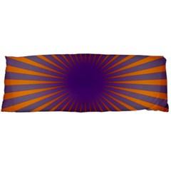 Retro Circle Lines Rays Orange Body Pillow Case Dakimakura (two Sides)