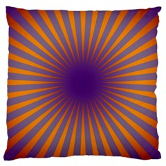 Retro Circle Lines Rays Orange Large Cushion Case (one Side)