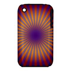 Retro Circle Lines Rays Orange Iphone 3s/3gs