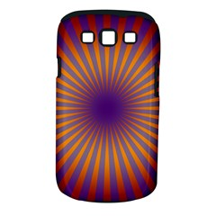 Retro Circle Lines Rays Orange Samsung Galaxy S Iii Classic Hardshell Case (pc+silicone)