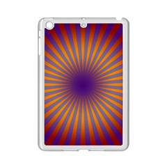 Retro Circle Lines Rays Orange Ipad Mini 2 Enamel Coated Cases