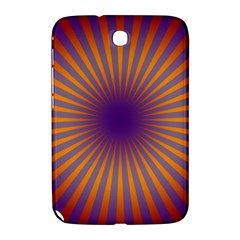 Retro Circle Lines Rays Orange Samsung Galaxy Note 8 0 N5100 Hardshell Case
