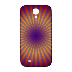Retro Circle Lines Rays Orange Samsung Galaxy S4 I9500/i9505  Hardshell Back Case