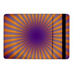 Retro Circle Lines Rays Orange Samsung Galaxy Tab Pro 10 1  Flip Case