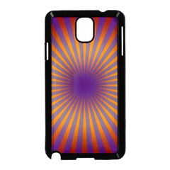 Retro Circle Lines Rays Orange Samsung Galaxy Note 3 Neo Hardshell Case (black)