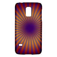 Retro Circle Lines Rays Orange Galaxy S5 Mini