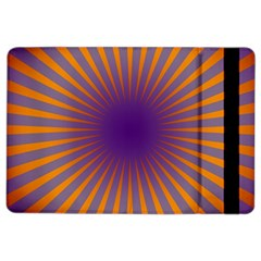 Retro Circle Lines Rays Orange Ipad Air 2 Flip