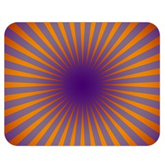 Retro Circle Lines Rays Orange Double Sided Flano Blanket (medium)