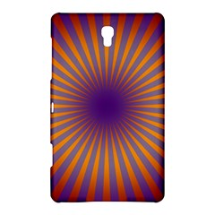 Retro Circle Lines Rays Orange Samsung Galaxy Tab S (8 4 ) Hardshell Case