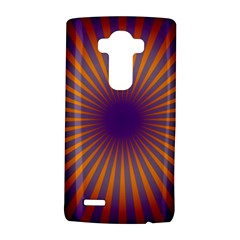 Retro Circle Lines Rays Orange Lg G4 Hardshell Case