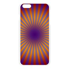Retro Circle Lines Rays Orange Apple Seamless iPhone 6 Plus/6S Plus Case (Transparent)