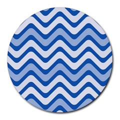 Waves Wavy Lines Pattern Design Round Mousepads