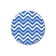 Waves Wavy Lines Pattern Design Magnet 3  (round)