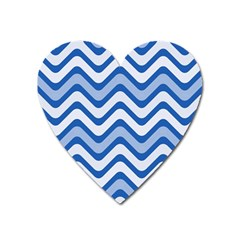 Waves Wavy Lines Pattern Design Heart Magnet
