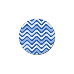 Waves Wavy Lines Pattern Design Golf Ball Marker (10 Pack)