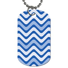 Waves Wavy Lines Pattern Design Dog Tag (two Sides)