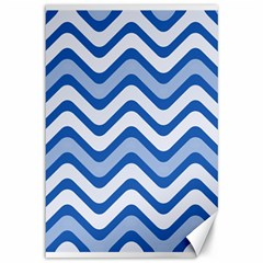Waves Wavy Lines Pattern Design Canvas 12  X 18