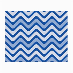 Waves Wavy Lines Pattern Design Small Glasses Cloth (2 Side)