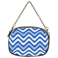 Waves Wavy Lines Pattern Design Chain Purses (one Side)