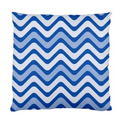 Waves Wavy Lines Pattern Design Standard Cushion Case (two Sides)