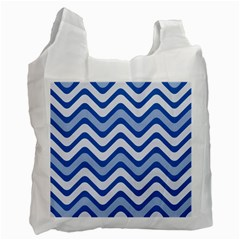 Waves Wavy Lines Pattern Design Recycle Bag (one Side)