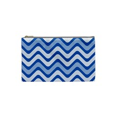 Waves Wavy Lines Pattern Design Cosmetic Bag (small)