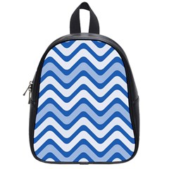 Waves Wavy Lines Pattern Design School Bags (Small)