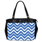 Waves Wavy Lines Pattern Design Office Handbags (2 Sides)  Front