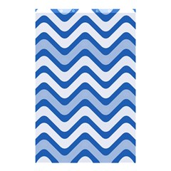 Waves Wavy Lines Pattern Design Shower Curtain 48  X 72  (small)