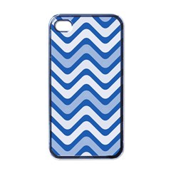 Waves Wavy Lines Pattern Design Apple Iphone 4 Case (black)