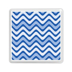 Waves Wavy Lines Pattern Design Memory Card Reader (square)