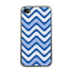 Waves Wavy Lines Pattern Design Apple Iphone 4 Case (clear)