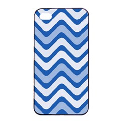 Waves Wavy Lines Pattern Design Apple Iphone 4/4s Seamless Case (black)