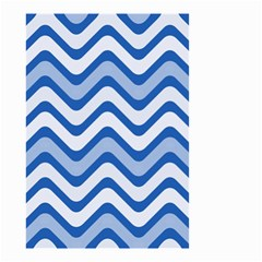 Waves Wavy Lines Pattern Design Small Garden Flag (Two Sides)