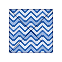 Waves Wavy Lines Pattern Design Acrylic Tangram Puzzle (4  x 4 )