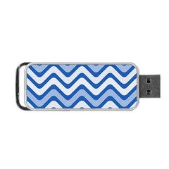 Waves Wavy Lines Pattern Design Portable USB Flash (One Side)