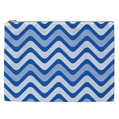 Waves Wavy Lines Pattern Design Cosmetic Bag (xxl)