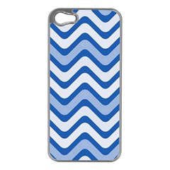 Waves Wavy Lines Pattern Design Apple Iphone 5 Case (silver)
