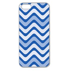 Waves Wavy Lines Pattern Design Apple Seamless Iphone 5 Case (clear)