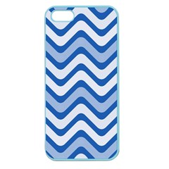 Waves Wavy Lines Pattern Design Apple Seamless Iphone 5 Case (color)