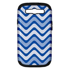 Waves Wavy Lines Pattern Design Samsung Galaxy S Iii Hardshell Case (pc+silicone)