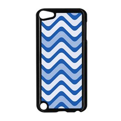 Waves Wavy Lines Pattern Design Apple Ipod Touch 5 Case (black)
