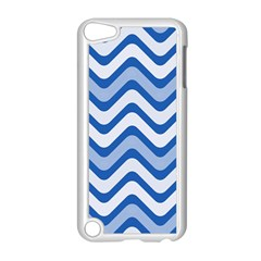 Waves Wavy Lines Pattern Design Apple iPod Touch 5 Case (White)