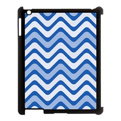 Waves Wavy Lines Pattern Design Apple Ipad 3/4 Case (black)
