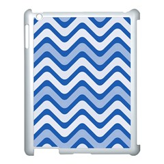 Waves Wavy Lines Pattern Design Apple Ipad 3/4 Case (white)