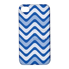 Waves Wavy Lines Pattern Design Apple Iphone 4/4s Hardshell Case With Stand
